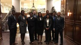 Students visit the AT and T Headquarters for future career and networking opportunities in Dallas, TX.