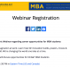 Feb Webinar regarding career opportunities with GE for MBA students